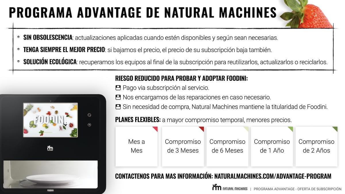 Natural Machines Advantage Program INFO ES
